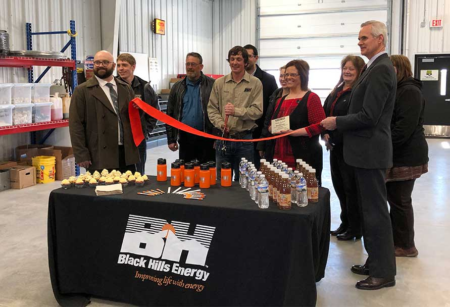 Broken bow ribbon cutting
