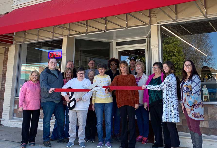 Mohawk Drug store ribbon cutting